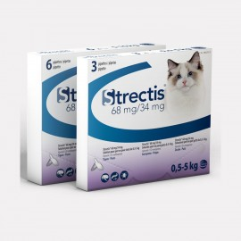 STRECTIS pipettes anti puces chat 0.5-5KG 3 PIP