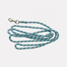 Laisse RONDE en corde NYLON grande longueur ultra-résistante - bleu ou noir