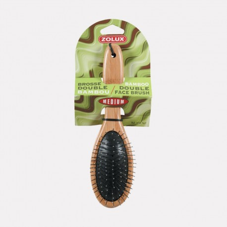 BROSSE DOUBLE BAMBOU