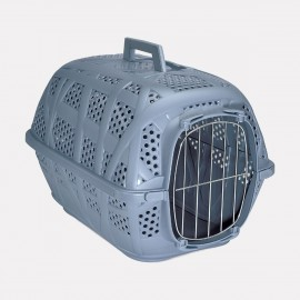 CAGE TRANSPORT pour chat CARRY BLEU