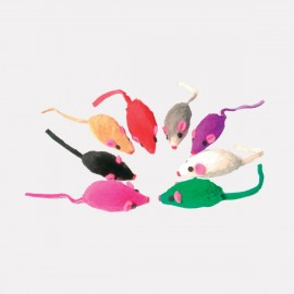 Adorables souris en fourrure - lot de 8
