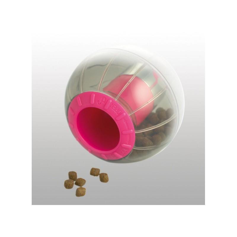 Balle distributrice de croquettes pour chat