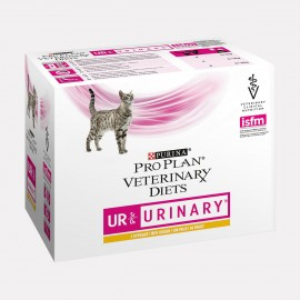 PROPLAN VETERINARY DIETS CHAT UR St/Ox Urinary Poulet -10 sachets fraicheur 85G