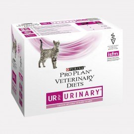 PROPLAN VETERINARY DIETS CHAT UR St/Ox Urinary Saumon -10 sachets fraicheur 85 gr