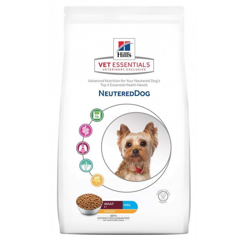 HILL'S VETESSENTIALS Chien Neutered adulte MINI 6 Kg