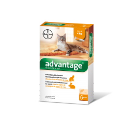 ADVANTAGE chat et lapin 0-4 Kg / 6 pipettes