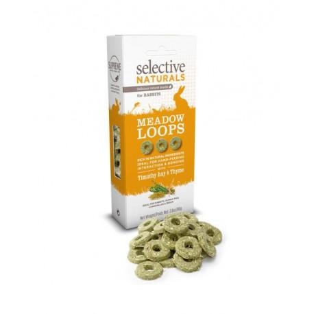 Friandises Selective Meadow Loops Rabbit - Bâtonnets goût Thym et Fléole des prés