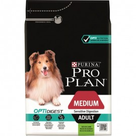 PROPLAN CHIEN Adult Medium OPTIDIGEST à l'Agneau - Sac de 3Kg