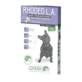 Rhodeo Longue Action 4 Pipettes spot-on pour chiens 1 à 10 Kg