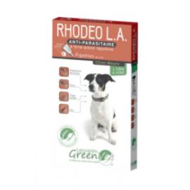 Rhodeo Longue Action 4 Pipettes spot-on pour chiens moyens 10 à 25 Kg