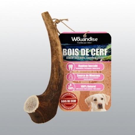Bois de cerf à grignoter - Friandise pour petit chien (50 - 74gr)