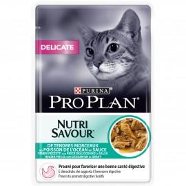 PROPLAN CHAT Nutrisavour Delicate au Poisson - 24 sachets fraicheur de 85 gr