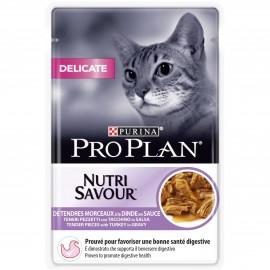 PROPLAN CHAT Nutrisavour Delicate à la Dinde - 24 sachets fraicheur de 85 gr