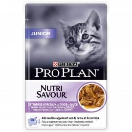 PROPLAN CHAT Nutrisavour Junior à la Dinde - 24 sachets fraicheur de 85 gr
