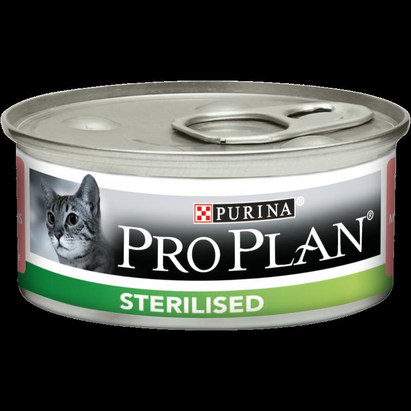 PROPLAN CHAT Boite Sterilised au Saumon - 24 boites de 85gr