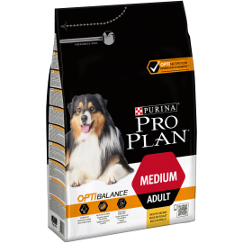 PROPLAN CHIEN Adult Medium OPTIBALANCE au Poulet - Sac de 3Kg