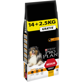 PROPLAN CHIEN Adult Medium OPTIBALANCE au Poulet - Sac de 14Kg +2.5kg