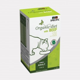 SPECIFIC Chat F-BIO-X Organic Beef Barquettes 7x100gr