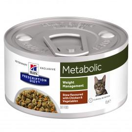 HILL'S PRESCRIPTION DIET CHAT Metabolic Mijotés au Poulet et Légumes