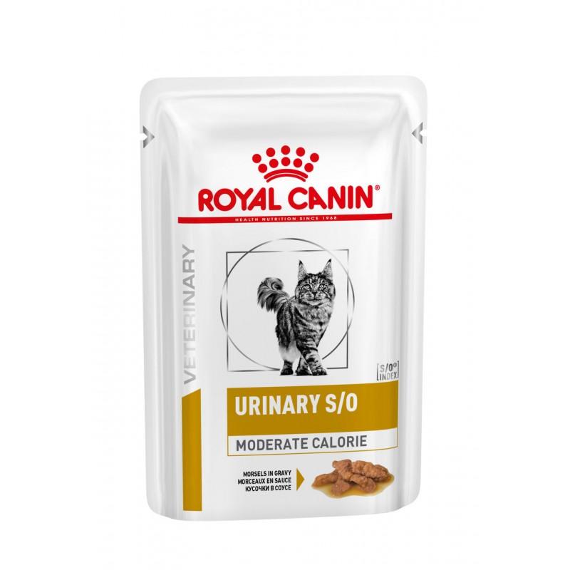ROYAL CANIN Chat URINARY S/O MODERATE CALORIE - 12 sachets fraîcheur de 185g