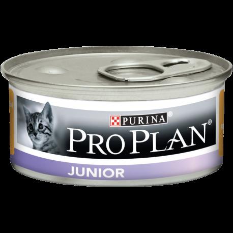 PROPLAN CHAT JUNIOR au Poulet - 18 boites de 85gr + 6 OFFERTES