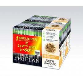 PROPLAN CHAT Nutrisavour Sterilised au Poulet - 10 sachets fraicheur de 85 gr (lot de 2)