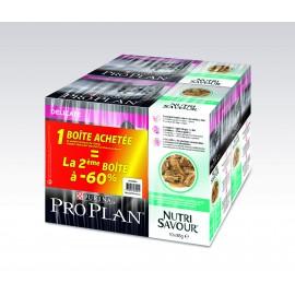 PROPLAN CHAT Nutrisavour Delicate au Poisson - 10 sachets fraicheur de 85 gr (lot de 2)