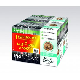 PROPLAN CHAT Nutrisavour Sterilised au Poisson de l'Océan - 10 sachets fraicheur de 85 gr (lot de 2)