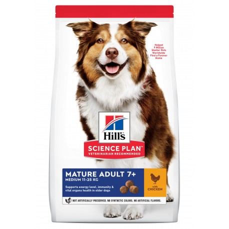 HILL'S SCIENCE PLAN Chien Mature Adult 7+ Medium - Sac de 14 kg