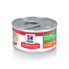 HILL'S SCIENCE PLAN CHAT Kitten First Nutrition Mousse 24 boites de 82 G