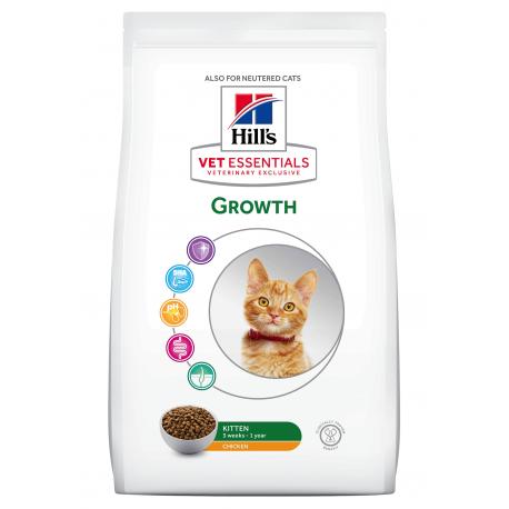 HILL'S VET ESSENTIALS CHAT Kitten Growth au Poulet - Sac de 2.5 kg