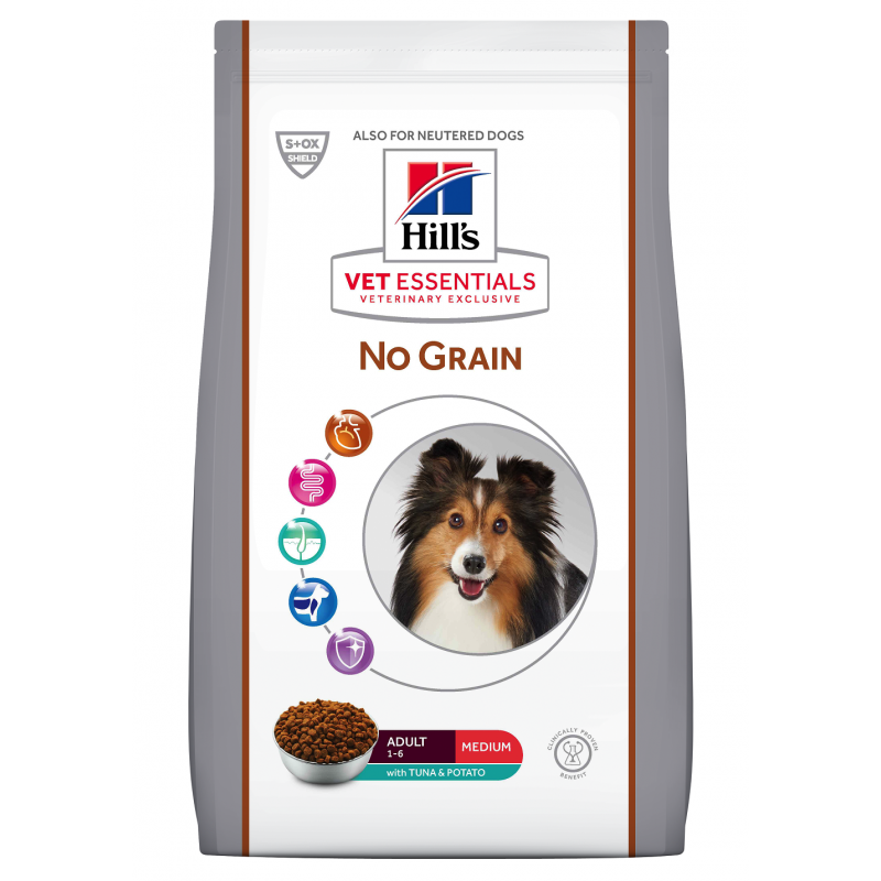HILL'S VET ESSENTIALS No Grain CHIEN Adult  Medium au Thon - Sac de 2 kg