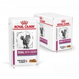 ROYAL CANIN CHAT Renal au Poulet - 12 sachets d'émincés de 85 g